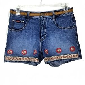 Vintage FUBU Embroidered Shorts Denim Shorts